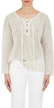 Nili Lotan Women's Portia Cashmere Lace-Up Sweater