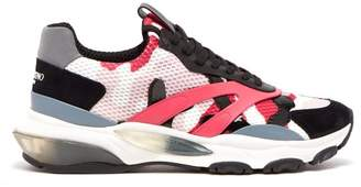 Valentino Bounce Raised Sole Low Top Trainers - Mens - Pink