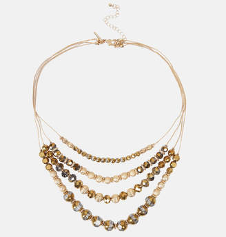 Avenue Tonal Bronze Bead Necklace