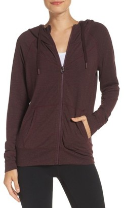 Women's Zella Well Played Zip Fleece Hoodie $69 thestylecure.com
