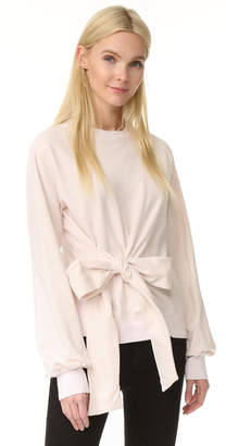 Clu Long Sleeve Sweatshirt with Bow $227 thestylecure.com