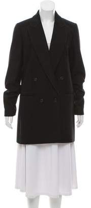 Michael Kors Virgin Wool Double-Breasted Coat
