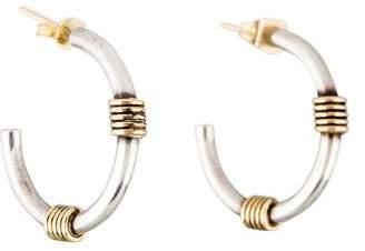 Tiffany & Co. Two-Tone Hoop Earrings