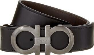 Salvatore Ferragamo Double Gancio Reversible & Adjustable Leather Belt