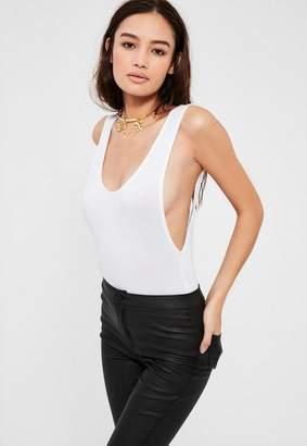 White Scoop Back Bodysuit $16 thestylecure.com
