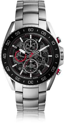 Michael Kors Jetmaster Silver Tone Stainless Steel Men's Chrono Watch