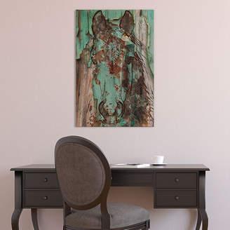 iCanvas Green Horse Canvas Art