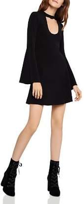 BCBGeneration Bell-Sleeve Cutout Dress