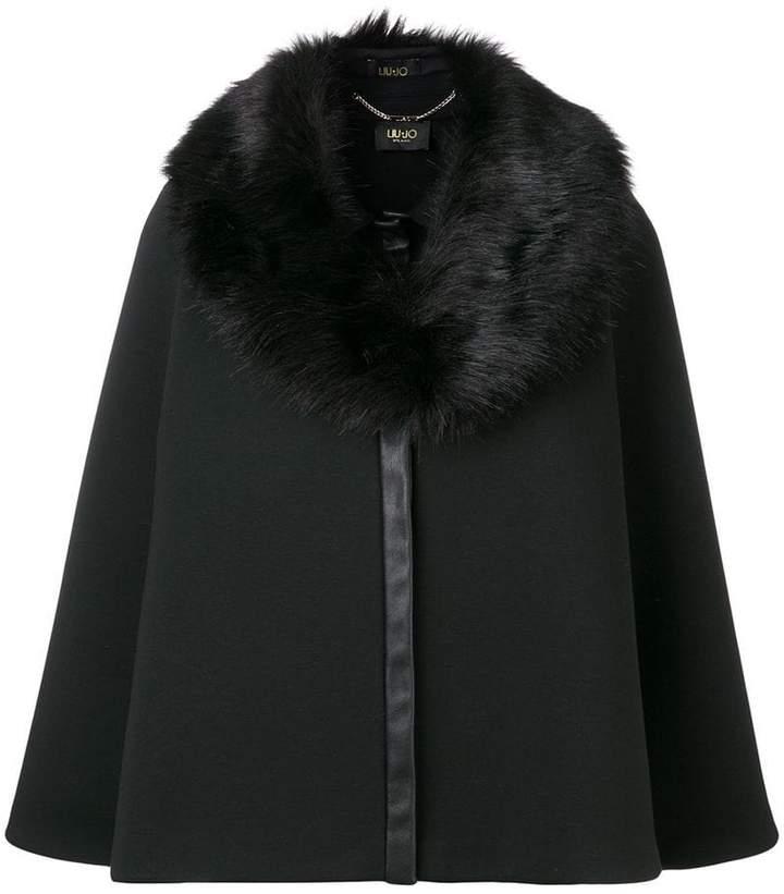 fur collar oversized jacket