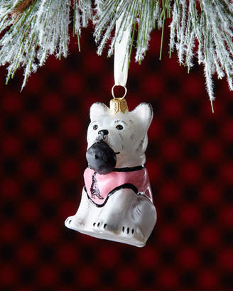 Joy To The World Collectibles Frenchie Dog with Beret in Mouth Christmas Ornament