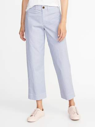 Old Navy Mid-Rise Cropped Wide-Leg Chinos for Women