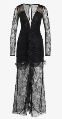 For Love & Lemons Daisy Black Lace Gown