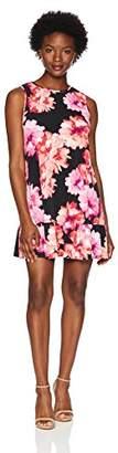 Tiana B Women's Petite Floral Jersey a-line Swing Dress