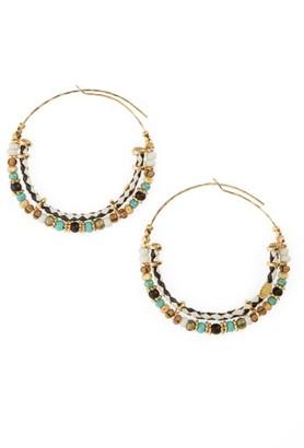 Women's Gas Bijoux Comedia Hoop Earrings $125 thestylecure.com