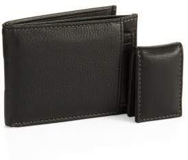 Black & Brown Black Brown Three For One Leather Wallet Set