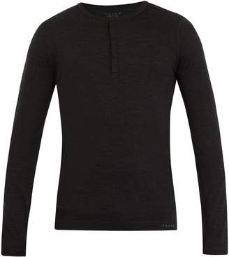 Falke ESS Long-sleeved wool and silk-blend T-shirt
