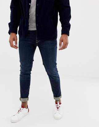 Selected skinny fit jeans in mid blue wash