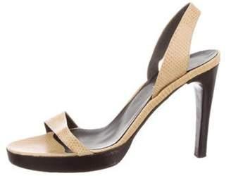 Calvin Klein Collection Lizard SLingback Sandals yellow Lizard SLingback Sandals