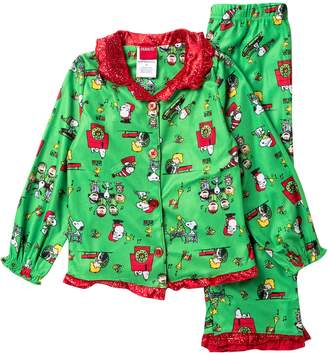 Komar Peanuts Holiday Coat Set (Toddler Girls)