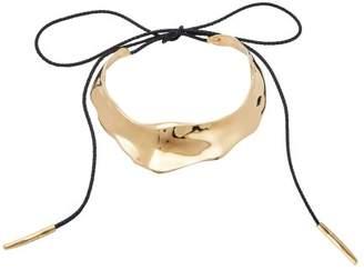 Alexander McQueen Molten Brass Choker - Womens - Gold