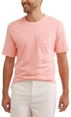 Caribbean Joe Men's Solid cotton pocket Tee