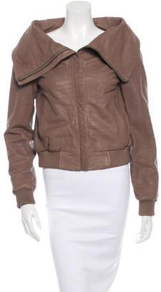 AllSaints Textured Leather Jacket $345 thestylecure.com