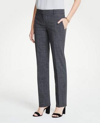 Ann Taylor The Petite Straight Leg Pant In Fine Crosshatch - Curvy Fit