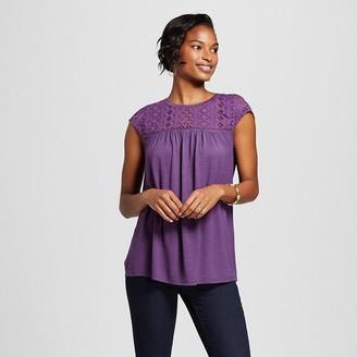 Merona Women's Fairytale Lace Shell Top $17.99 thestylecure.com