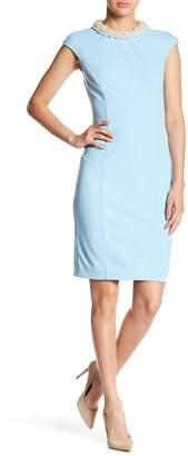 Betsey Johnson Embellished Collar Midi Dress