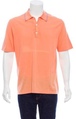 Borrelli Short-Sleeve Polo Sweater w/ Tags