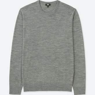 Uniqlo MEN Extra Fine Merino Crew Neck Long Sleeve Sweater