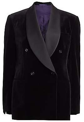 Ralph Lauren Women's Gregory Double-Breasted Velvet Tuxedo Jacket