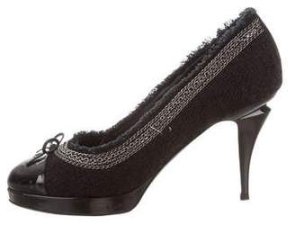 Chanel Tweed Cap-Toe Pumps