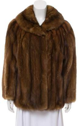Sable Fur Shawl Collar Jacket