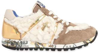 Premiata Sky Faux Fur, Suede & Leather Sneakers