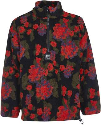MSGM Floral Zipped Sweater