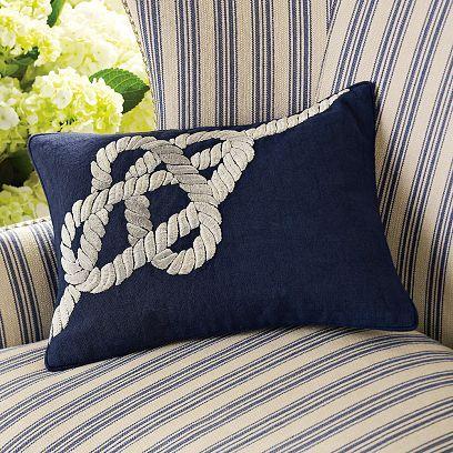 Bowline Knot Zardozi Pillow