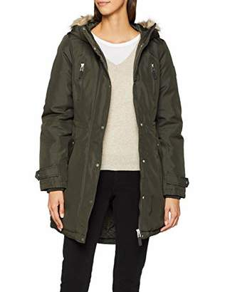 Vero Moda Women's Vmtrack Expedition Aw18 3/4 Parka Noos, Blue Night Sky, (Size: Small)