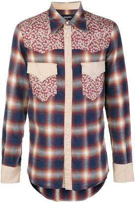 DSQUARED2 checked button shirt