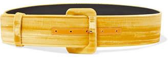 ATTICO Velvet Waist Belt - Yellow