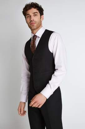 Tailored Fit Black Waistcoat