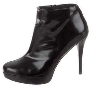 Stuart Weitzman Patent Leather Ankle Boots