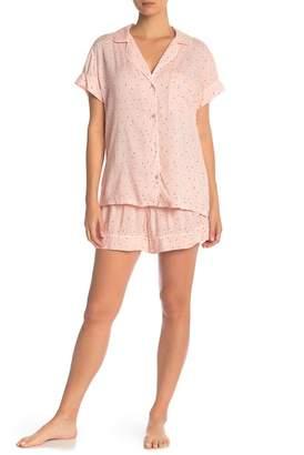 Eberjey Victoria Button Down & Shorts PJ Set