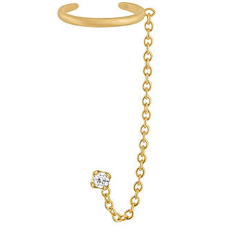 Social Anarchy 14k Gold Ear Cuff with Chain
