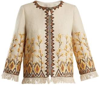 Andrew Gn Embroidered linen-blend jacket