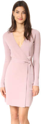 Diane von Furstenberg V Neck Knit Wrap Dress $398 thestylecure.com