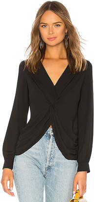 Bailey 44 Counter Intelligence Draped Georgette Top