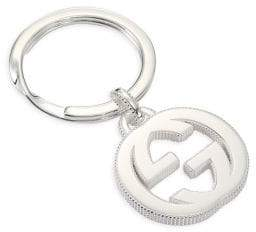 Gucci Interlocking Silvertone Key Ring