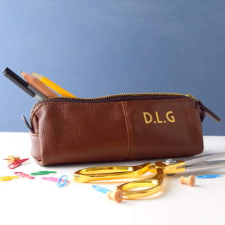 Equipment The Alphabet Gift Shop Personalised Leather Effect Pencil Case