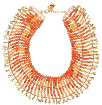 Rosantica By Michela Panero - Indios Beaded Necklace - Womens - Orange